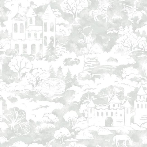 Quiet Kingdom Wallpaper in Grey from the A Perfect World Collection by York Wallcoverings