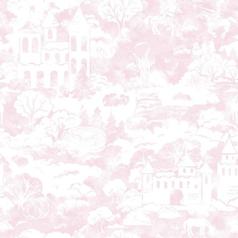 Quiet Kingdom Wallpaper in Pink from the A Perfect World Collection by York Wallcoverings