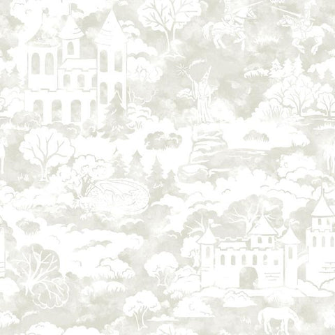 Quiet Kingdom Wallpaper in Taupe from the A Perfect World Collection by York Wallcoverings