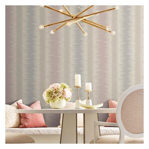 Quill Stripe Wallpaper in Pink from the Botanical Dreams Collection by Candice Olson for York Wallcoverings
