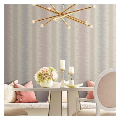 Quill Stripe Wallpaper from the Botanical Dreams Collection by Candice Olson for York Wallcoverings