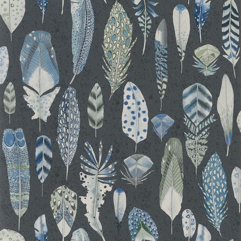 Quill Wallpaper in Cobalt from the Tulipa Stellata Collection by Designers Guild