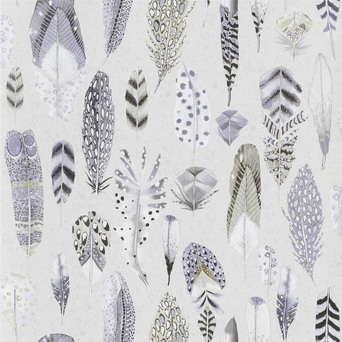 Quill Wallpaper in Dove from the Tulipa Stellata Collection by Designers Guild
