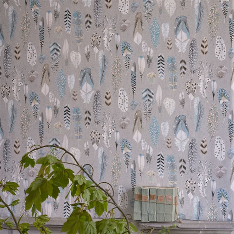 Quill Wallpaper in Duck Egg from the Tulipa Stellata Collection by Designers Guild