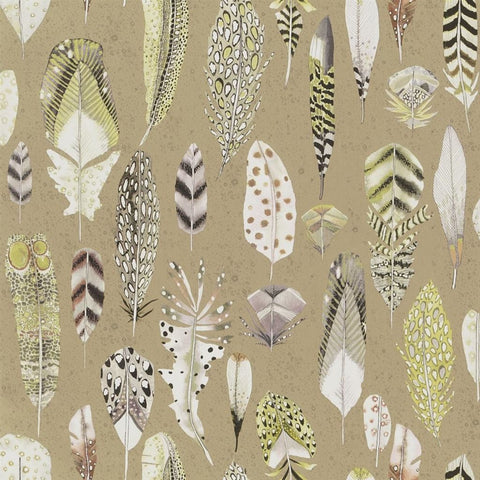 Quill Wallpaper in Gold from the Tulipa Stellata Collection by Designers Guild