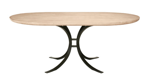 Quincy Oval Dining Table in Cashew design by Redford House