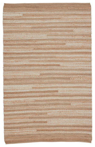 Avena Natural Striped Beige & Cream Rug by Jaipur Living