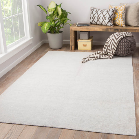Limon Indoor/ Outdoor Solid White Area Rug design by Jaipur