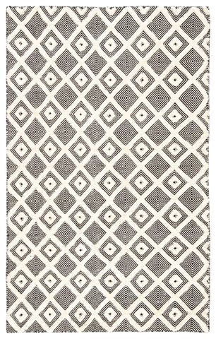 Bosc Indoor/ Outdoor Trellis Ivory/ Black Rug by Jaipur Living