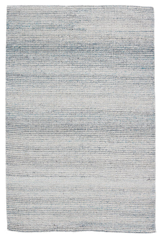 Crispin Indoor/Outdoor Solid Blue & White Rug by Jaipur Living