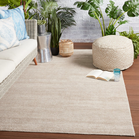 Limon Indoor/Outdoor Solid Light Taupe Rug by Jaipur Living