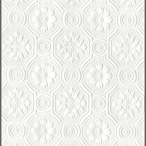 Anaglypta Supaglypta Spencer Floral Paintable Wallcovering by Burke Decor