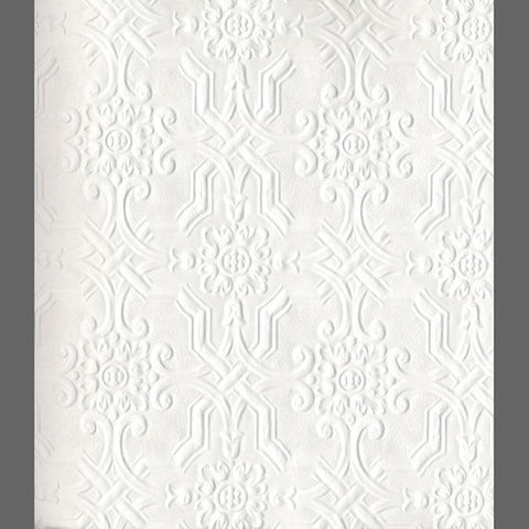 Anaglypta Original Berkeley Embossed Paintable Wallpaper by Burke Decor