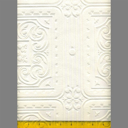 Anaglypta Premium Textured Vinyl Turner Tile Classical Paintable Wallpaper by Burke Decor