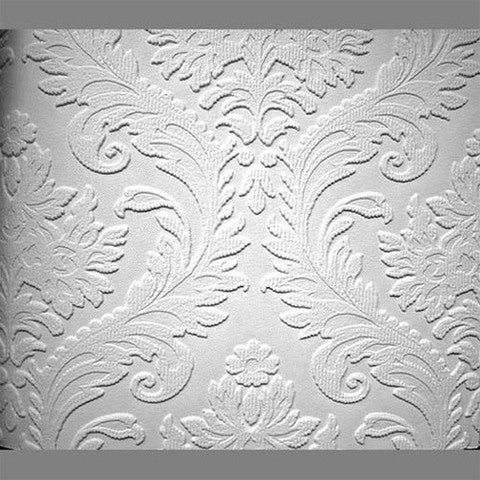 Sample Anaglypta Premium Textured Vinyl High Trad Classical Paintable Wallpaper by Burke Decor