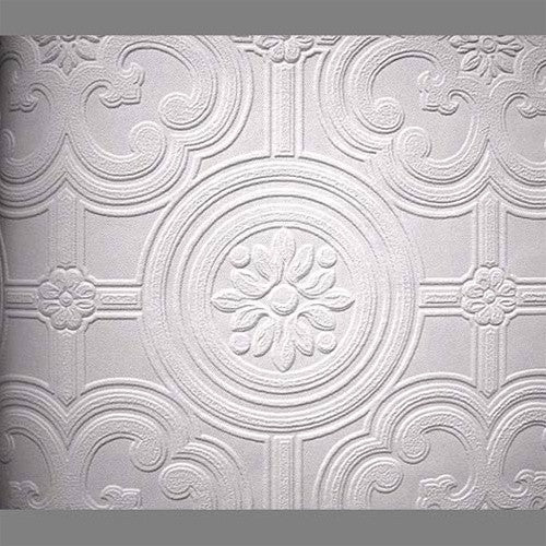 Anaglypta Premium Textured Vinyl Egon Classical Paintable Wallpaper by Burke Decor