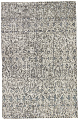 Abelle Medallion Rug in Steel Gray & Gray Morn design by Jaipur