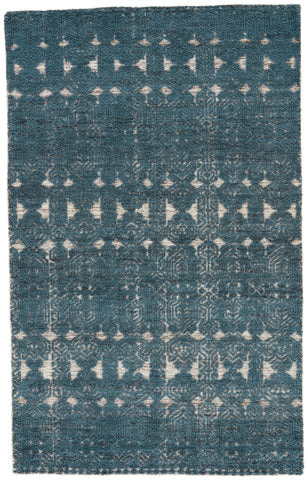 Abelle Medallion Rug in Moonbeam & Dark Slate design by Jaipur