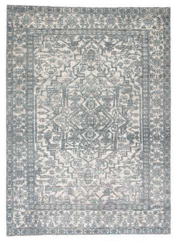 Tulip Medallion Rug in Blue Mirage & Gray Morn design by Jaipur Living