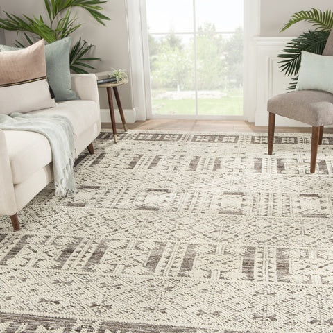 Origins Tribal Rug in After Dark & Whitecap Gray design by Jaipur