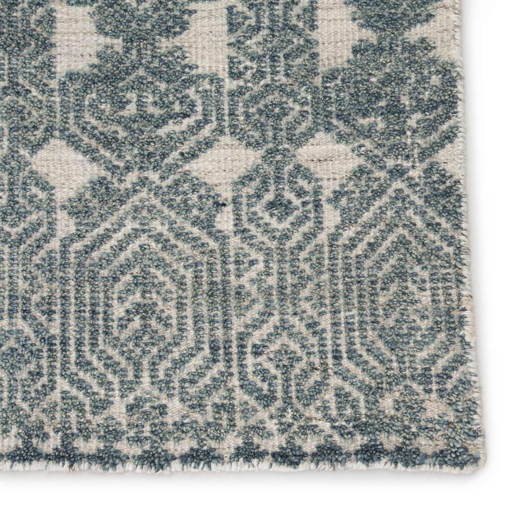 Abelle Hand-Knotted Medallion Teal/ Light Gray Rug by Jaipur Living