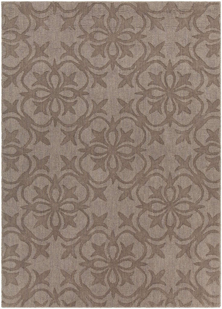 Rekha Collection Hand-Tufted Area Rug in Taupe & Brown design by Chandra rugs