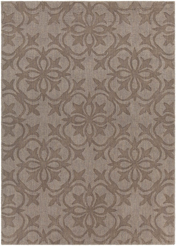 Rekha Collection Hand-Tufted Area Rug in Taupe & Brown