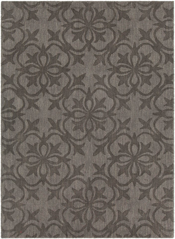 Rekha Collection Hand-Tufted Area Rug in Taupe & Charcoal