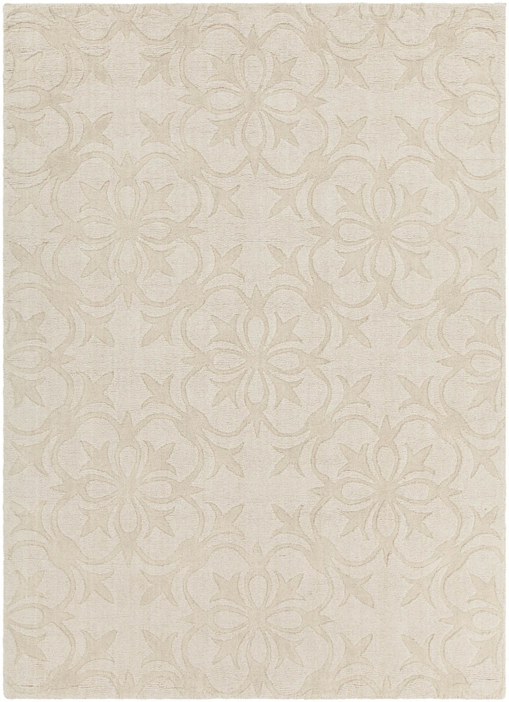Rekha Collection Hand-Tufted Area Rug in Cream design by Chandra rugs