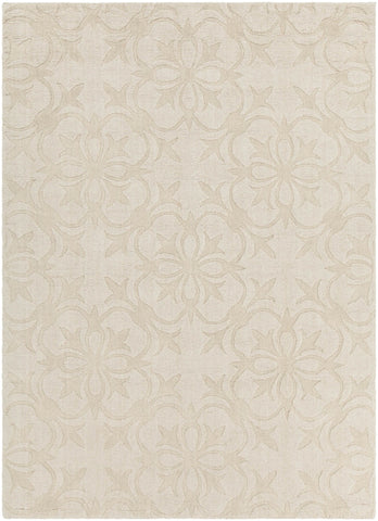 Rekha Collection Hand-Tufted Area Rug in Cream