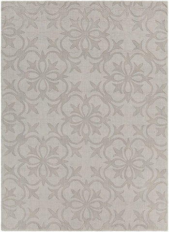 Rekha Collection Hand-Tufted Area Rug in Grey