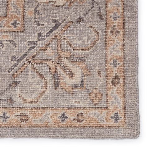 Wyndham Hand-Knotted Trellis Light Grey & Tan Rug by Jaipur Living