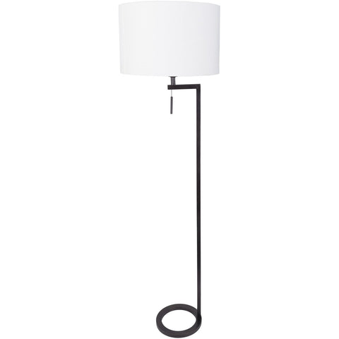 Reese RES-004 Floor Lamp in White & Antiqued Bronze by Surya