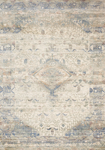 Revere Rug in Ivory & Blue by Loloi