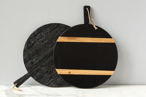 Black Round Mod Charcuterie Board, Medium