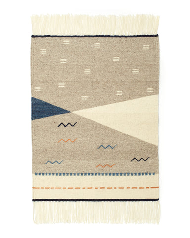 Norma Rug in Indigo design by Minna