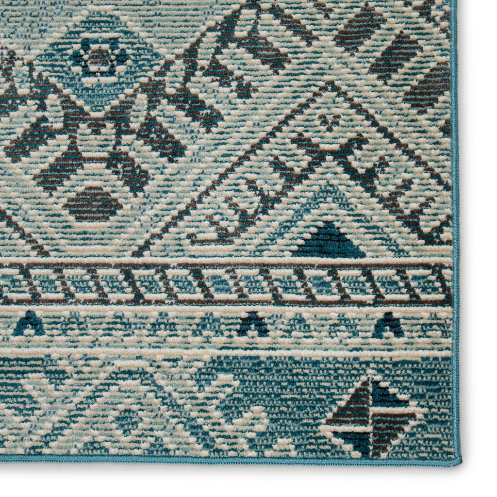 Sax Indoor/ Outdoor Tribal Blue/ White Rug by Nikki Chu for Jaipur Living