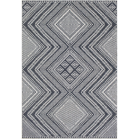 Ariana RIA-2301 Rug in Charcoal & White by Surya