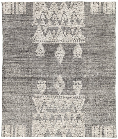 Torsby Geometric Rug in Jet Black & Parchment design by Jaipur Living