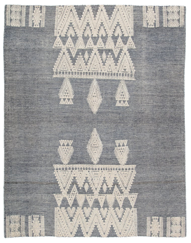 Torsby Tribal Rug in Total Eclipse & Whitecap Gray design by Jaipur Living