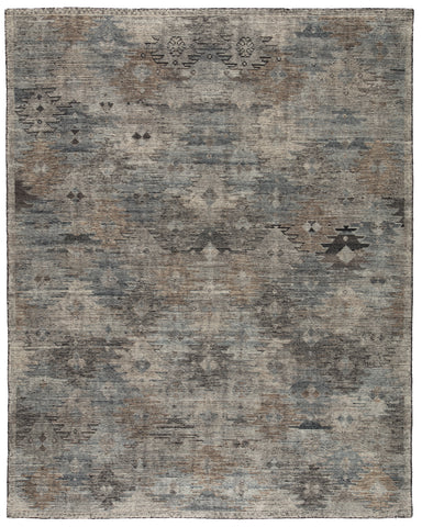 Nakoda Hand-Knotted Tribal Black/ White Rug by Jaipur Living
