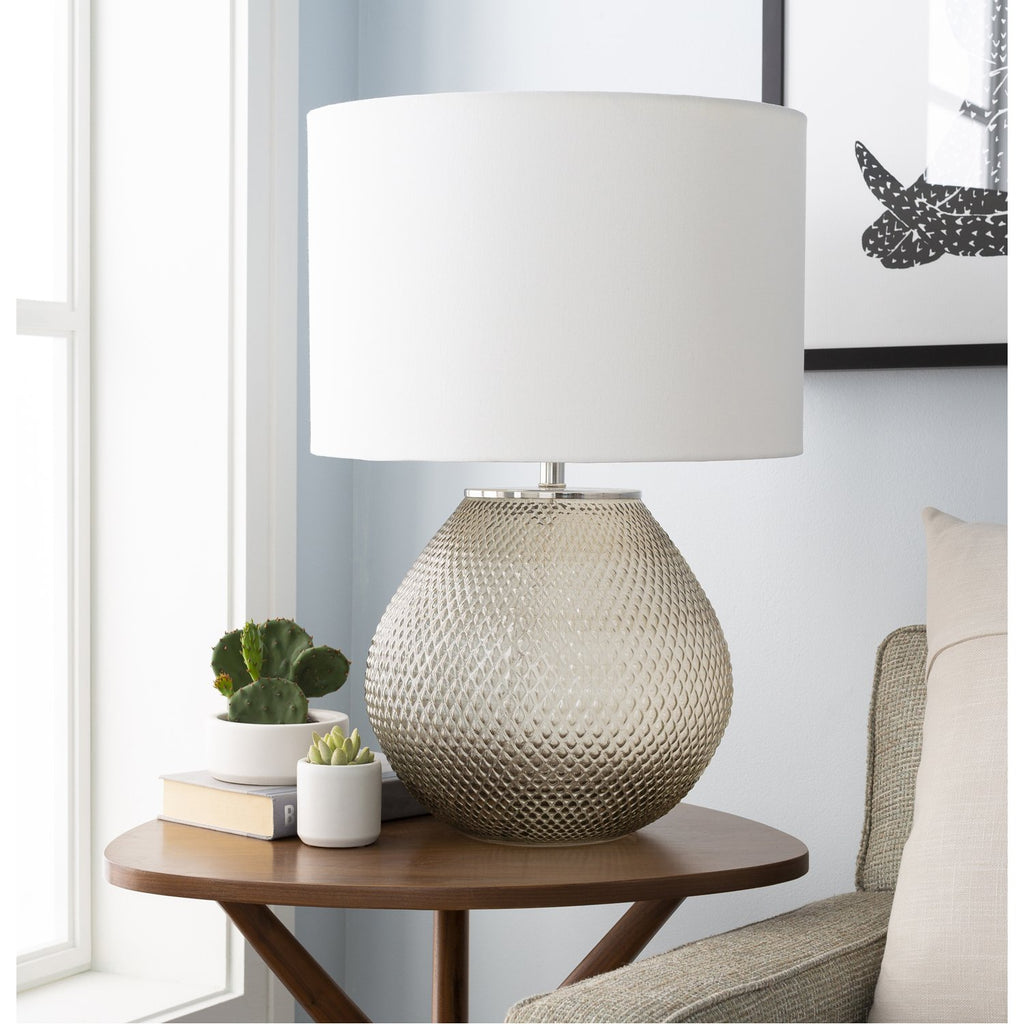Arlo RLO-001 Table Lamp in Medium Gray & White by Surya