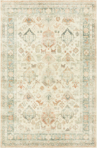 Rosette Rug in Beige / Multi by Loloi II