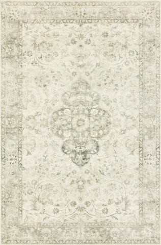 Rosette Rug in Ivory / Silver by Loloi II
