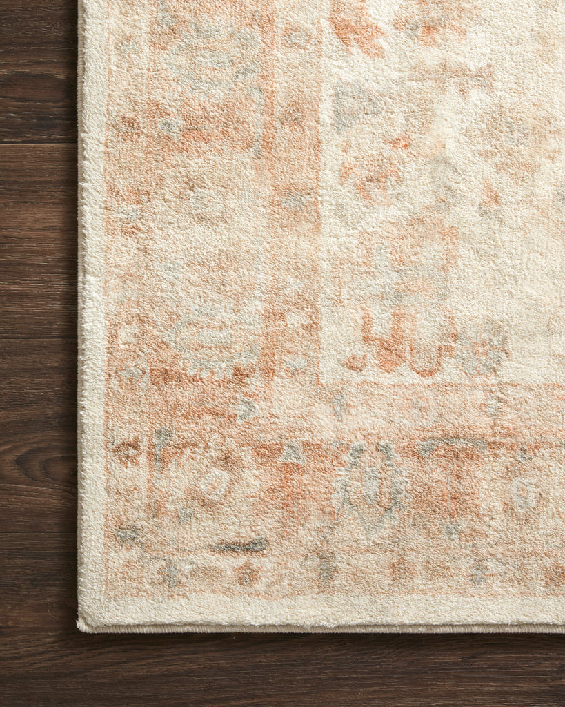 Rosette Rug in Ivory / Terracotta by Loloi II
