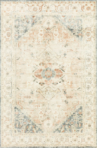 Rosette Rug in Clay / Ivory by Loloi II