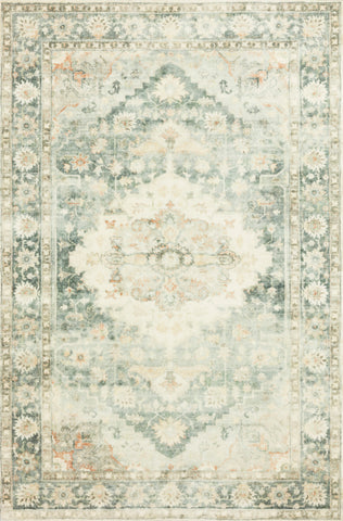 Rosette Rug in Teal / Ivory by Loloi II