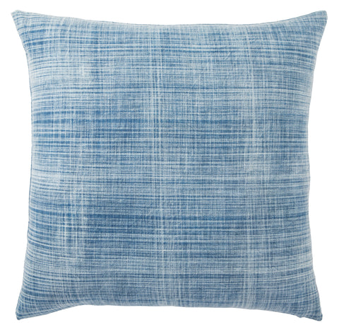 Morgan Handmade Solid Blue & White Throw Pillow design by Jaipur Living