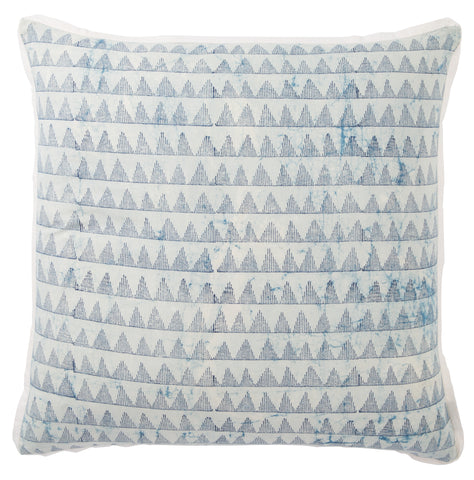 Yonah Handmade Geometric Blue & White Throw Pillow design by Jaipur