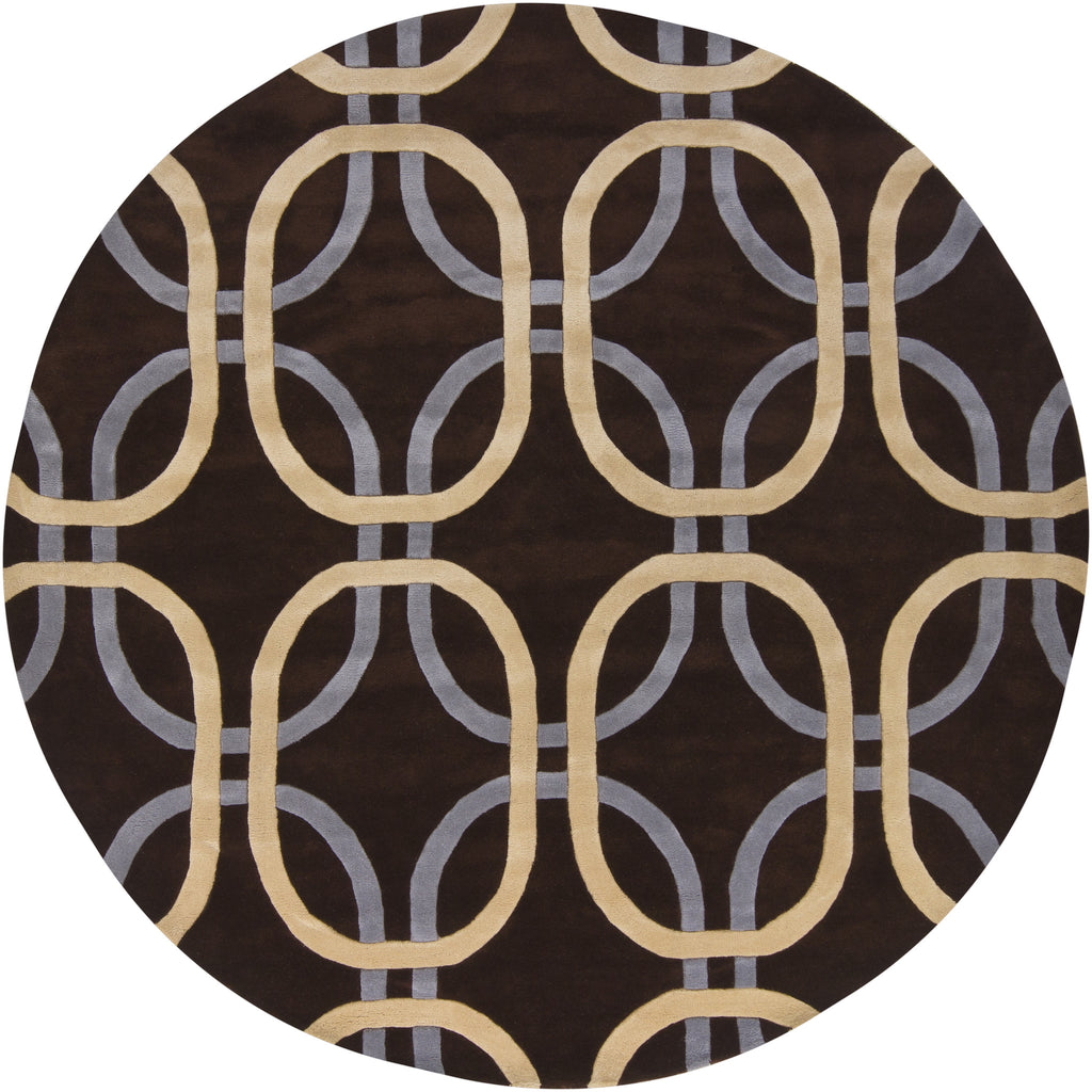 Rowe Collection Hand-Tufted Area Rug in Brown, Cream, & Grey design by Chandra rugs